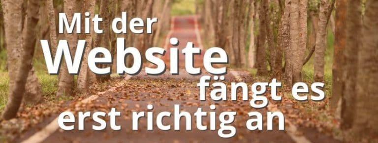 Eine Website allein ist nicht genug