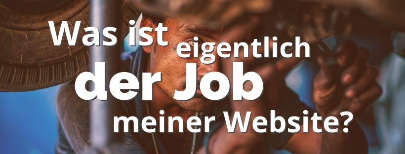 Der Job meiner Website