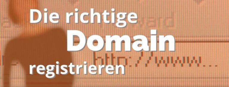Die richtige Domain registrieren