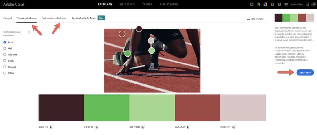 So einfach findet man Farben, die zu einem bestehenden Bild passen.
